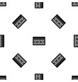 one building brick pattern seamless black vector image vector image
