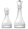 pawn and queen vector image vector image