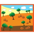 Picture of trees a pumkins vector image