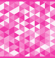 pink poly vector image vector image