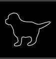 puppy white color icon vector image vector image