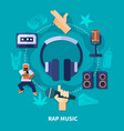 rap music round composition vector image vector image