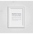 Realistic picture frame with text vector image