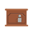 retro brown safe box with a keypad buttons panel vector image vector image