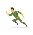running superhero - modern cartoon people vector image