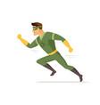running superhero - modern cartoon people vector image vector image