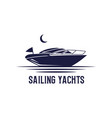 sailing yachts logo design sailboat logo vector image vector image