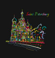 saint petersburg church of the saviour on spilled vector image vector image