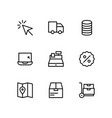 set ecommerce icons for website vector image vector image