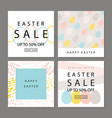 set of cards easter sale backgrounds with hand vector image vector image
