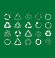 set recycle icons label template green eco vector image vector image