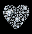 shiny diamond heart vector image vector image
