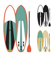 stand up paddle boards vector image vector image
