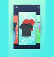 t-shirts fashion clothes black friday big sale vector image