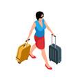traveler isometric icon vector image