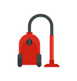 vacuum cleaner icon flat style vector image vector image