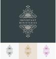 Vintage luxury emblem Elegant Calligraphic