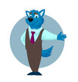 wolf business man vector image