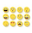 Cute emoticons set vector image