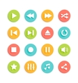 Media Player Material Design Icons Set vector image