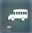 Bus icon On the blue-green abstract background vector image