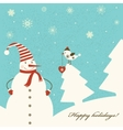 Christmas decoration with snowman vector image