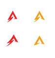 a letter lightning logo vector image vector image