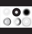 abstract circle white set design vector image vector image