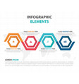 abstract colorful hexagon timeline business vector image vector image