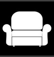 armchair the white color icon vector image vector image