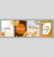 autumn posters set background autumn-time vector image