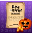 Banner happy Halloween and pumpkin with candles
