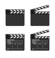 Blank Clapper Board Set on White Background vector image vector image