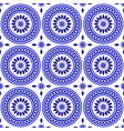 blue and white pattern vector image vector image