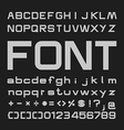 Bold Alphabet font Type letters and numbers vector image vector image