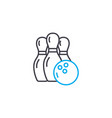 bowling linear icon concept bowling line vector image
