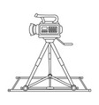 camera moving on railsmaking movie single icon in vector image