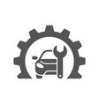 car repair gear outline icon in flat style vector image vector image