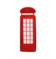 cartoon icon of london red telephone box vector image vector image