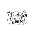 christmas miracles - hand lettering celebration vector image vector image