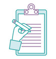 clipboard document with hand writing vector image vector image