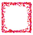 colorful red paper hearts frame background hearts vector image vector image