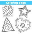coloring page educational game for children vector image vector image