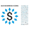 Dollar Distribution Icon with Flat Set vector image vector image