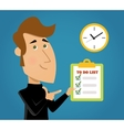 Done Todo List vector image vector image