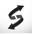 double arrow icon up and down arrows vector image vector image