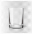 drinking glass for pub transparent realistic vector image