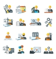 Engineer icon flat vector image vector image