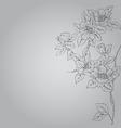 fantasy flower vector image