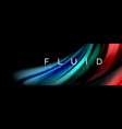 fluid color motion concept vector image vector image